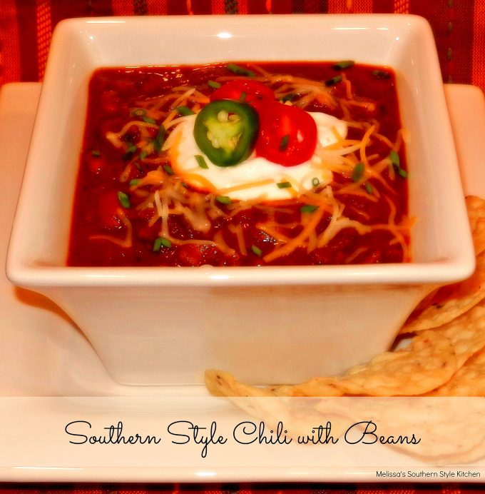 Slow Cooked Southern Style Chili With Beans