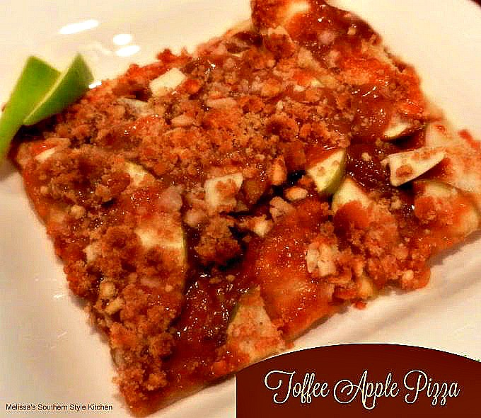 Toffee Apple Pizza
