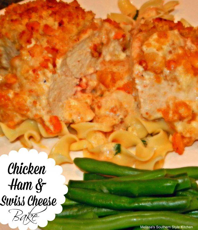 Chicken Ham And Swiss Cheese Bake