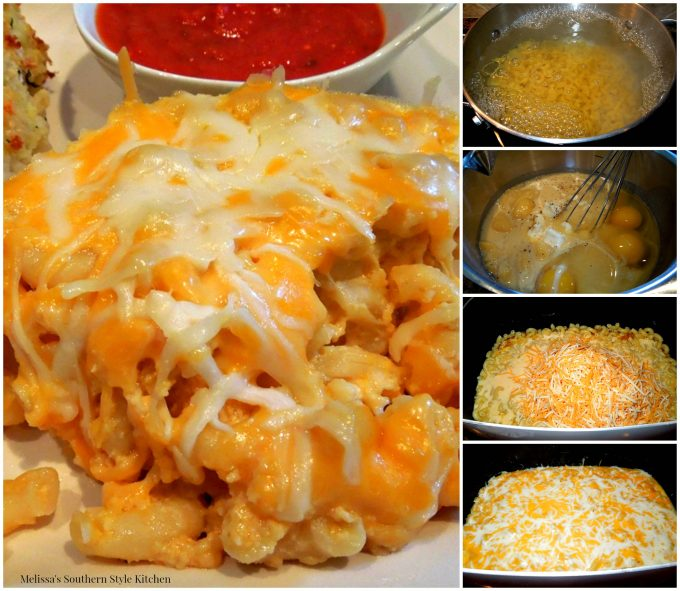Step-by-step images how to make macaroni and cheese