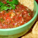 Fresh Peach And Tomato Salsa
