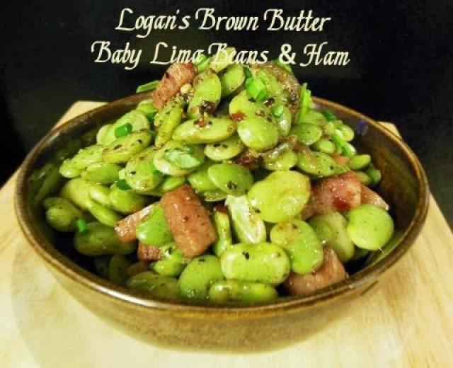Logan's Brown Butter Baby Lima Beans And Ham