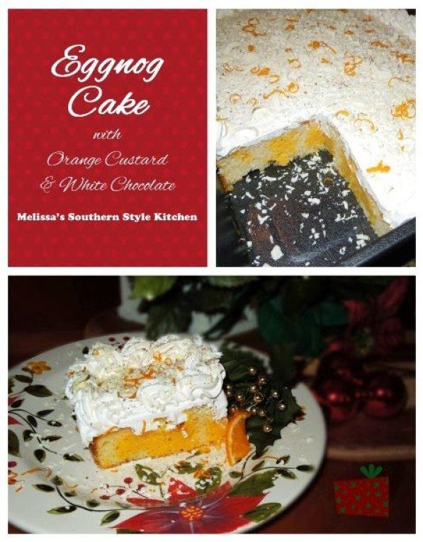 Eggnog Cake With Orange Custard And White Chocolate