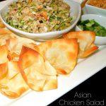 Asian Chicken Salad Wonton Nachos
