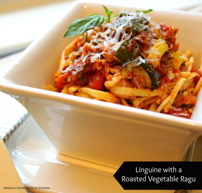 Linguine With A Roasted Vegetable Ragu