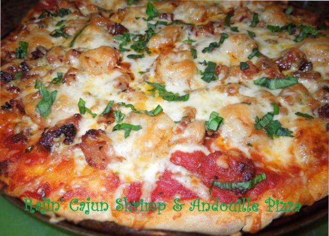 Rajin' Cajun Shrimp And Andouille Sausage Pizza