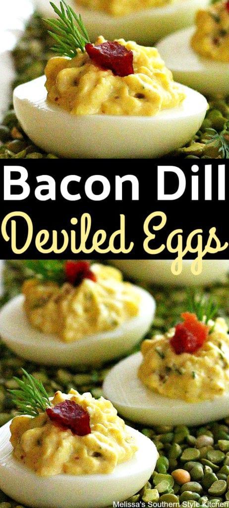 Bacon Dill Deviled Eggs