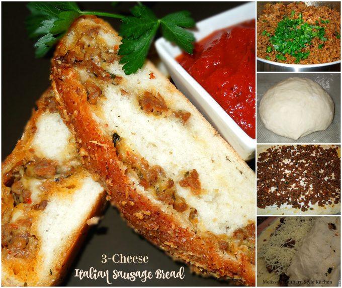 3 Cheese Italian Sausage Bread