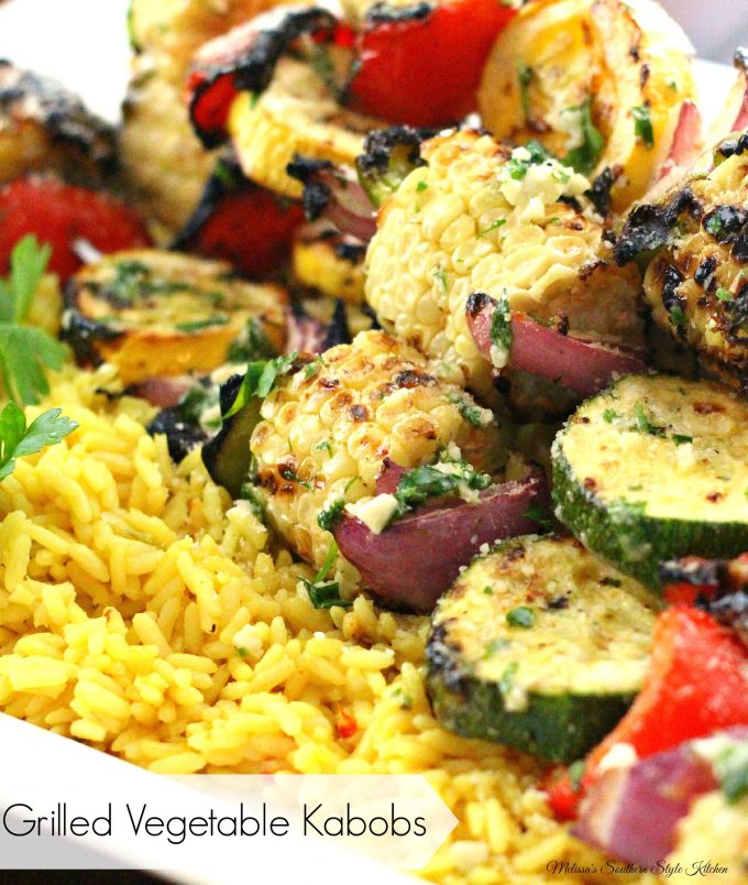 Grilled Vegetable Kabobs With Garlic Herb Butter