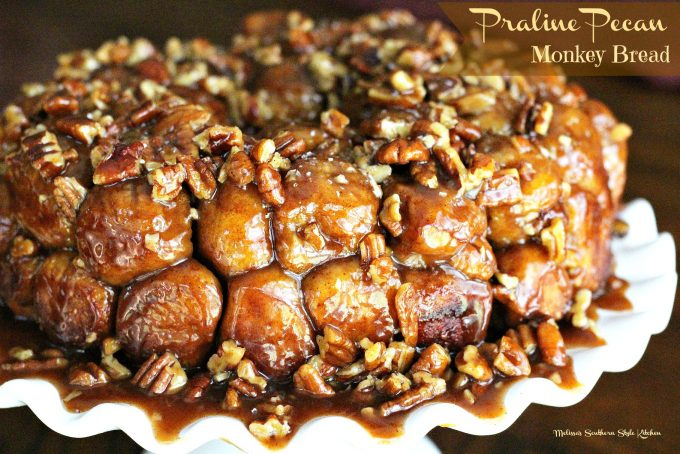 Praline Pecan Monkey Bread Using Rhodes Frozen Yeast Rolls
