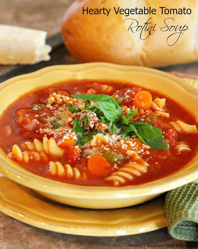 Hearty Vegetable-Tomato Rotini Soup