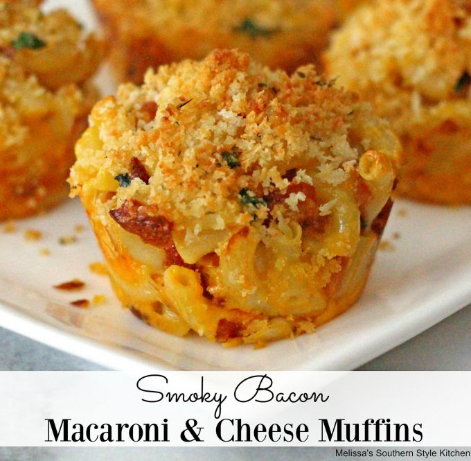 Smoky Bacon Macaroni and Cheese Muffins