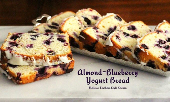Almond Blueberry Yogurt Bread