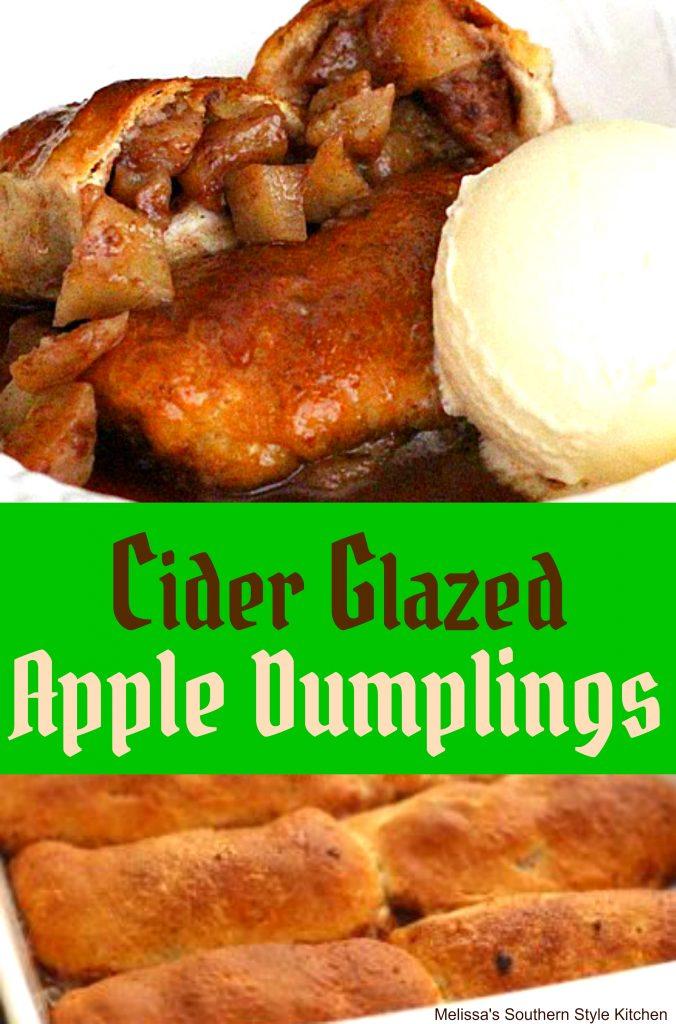 Cider Glazed Apple Dumplings