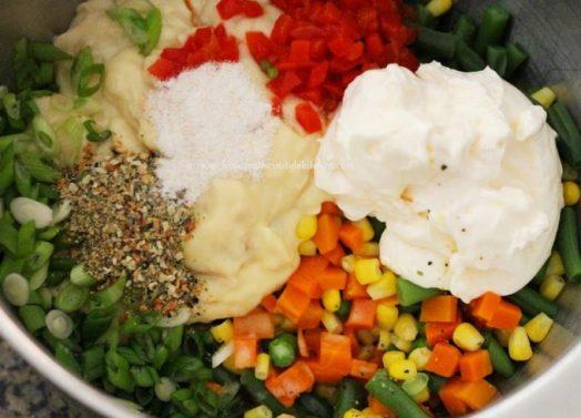 Cheddar Vegetable Gratin