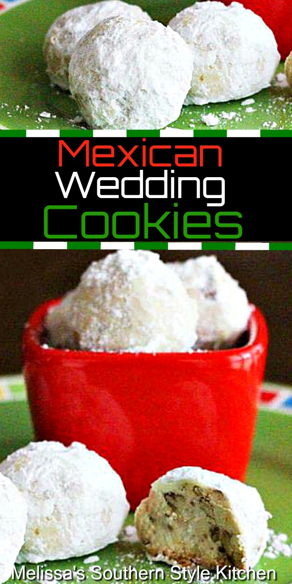 Mexican Wedding Cookies #mexicanweddingcookies #cookies #snowballs #russianteacakes #cookierecipes #mexican #desserts #dessertfoodrecipes #southernfood #southernrecipes #cincodemayo