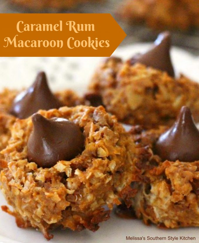 Caramel-Rum Macaroon Cookies