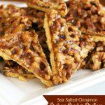 Sea Salted Cinnamon Graham Cracker Pralines