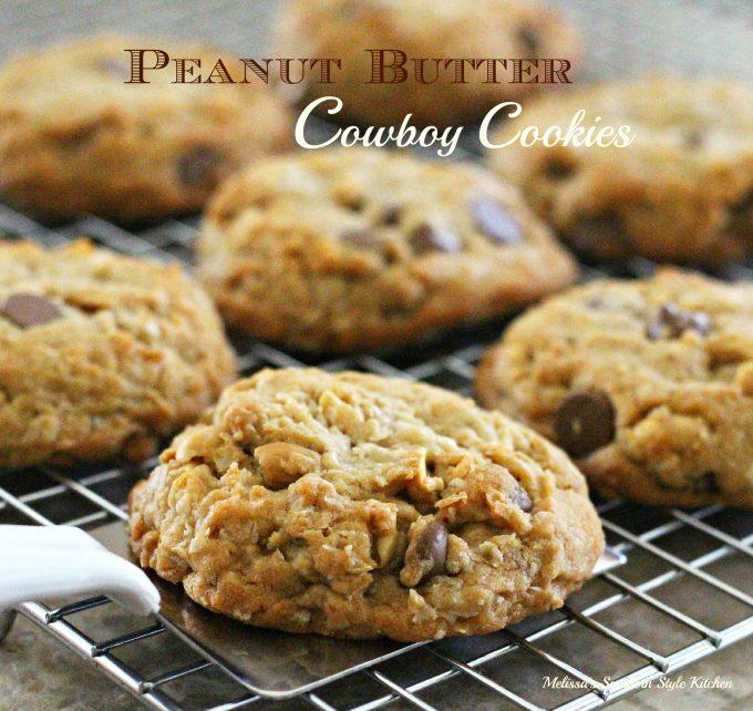 Peanut Butter Cowboy Cookies - melissassouthernstylekitchen com