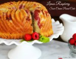 Lemon Raspberry Sour Cream Pound Cake