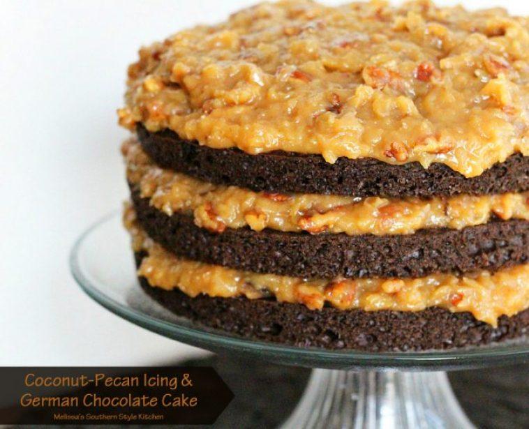 https://www.melissassouthernstylekitchen.com/coconut-pecan-icing-and-german-chocolate-cake/