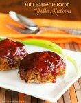 Mini Barbecue Bacon-Cheddar Meatloaves