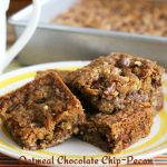 Oatmeal Chocolate Chip-Pecan Cookie Bars