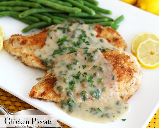 Chicken Piccata on a plate