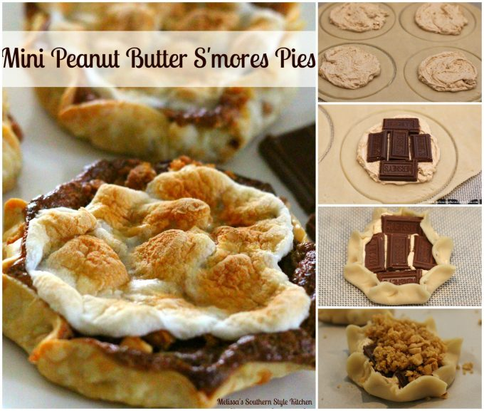step-by-step images and ingredients to make mini pies