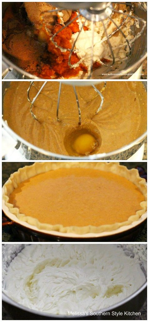 step-by-step images and ingredients for pumpkin pie