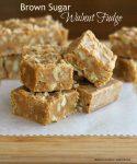 Brown Sugar Walnut Fudge