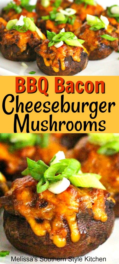 Barbecue Bacon Cheeseburger Stuffed Mushrooms