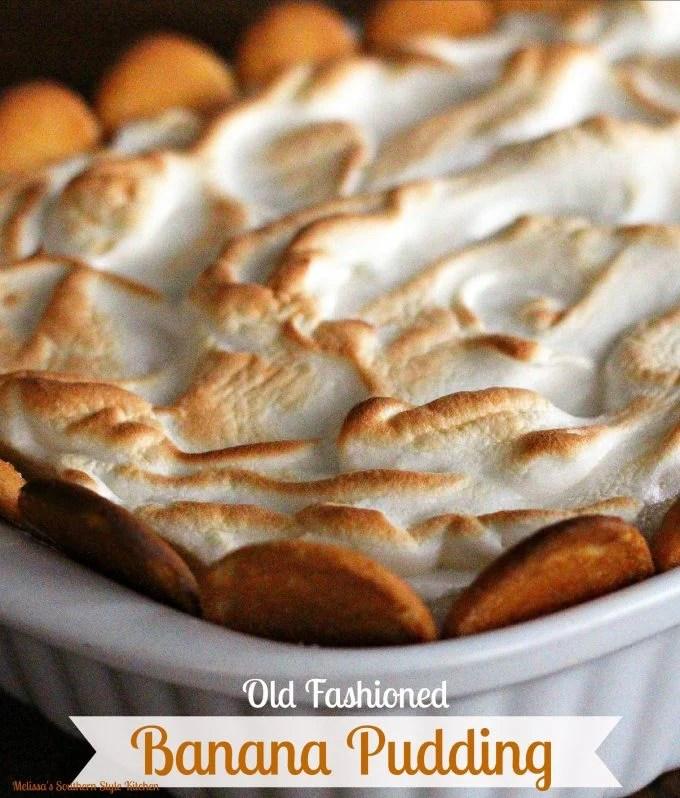 Old Fashioned Banana Pudding - melissassouthernstylekitchen com