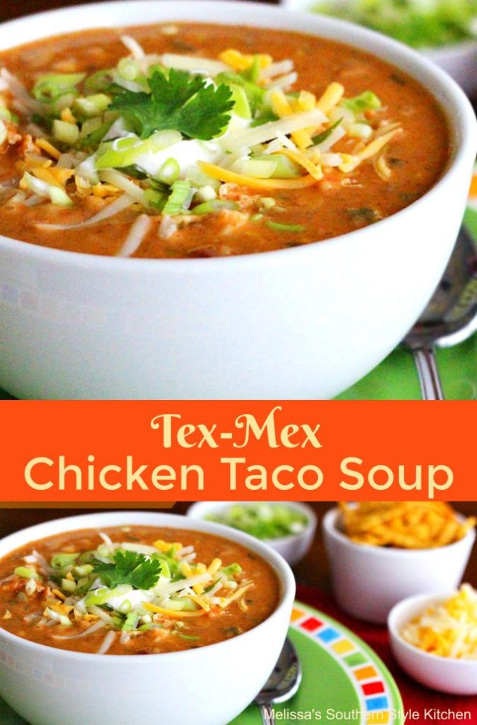 Tex Mex Chicken Taco Soup