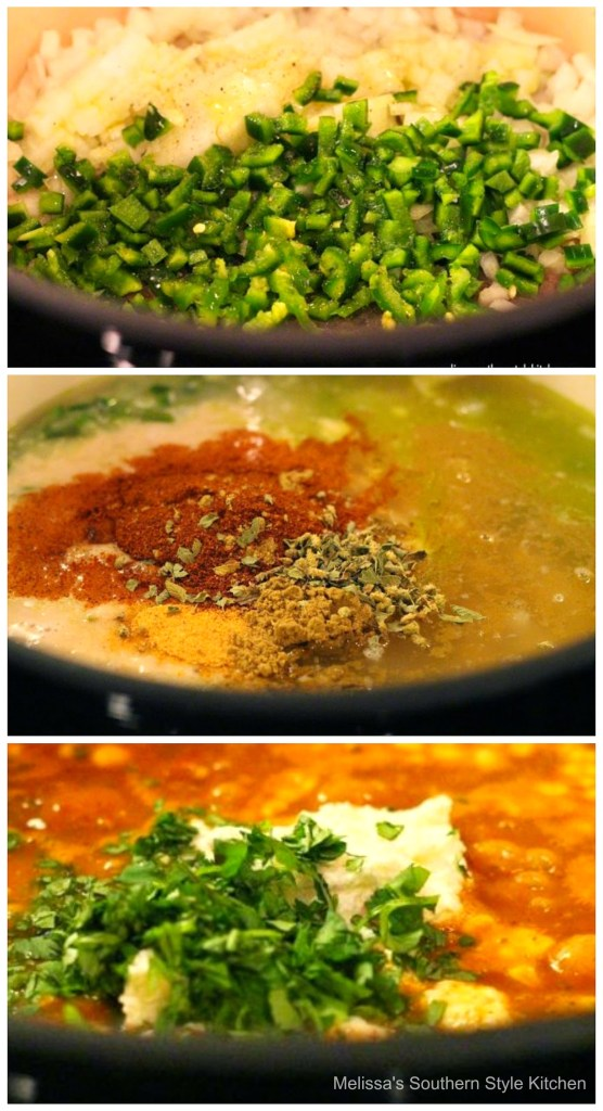 step-by-step images and ingredients for taco soup