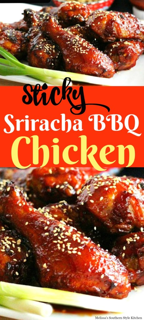 Sticky Sriracha Barbecue Chicken Drumsticks