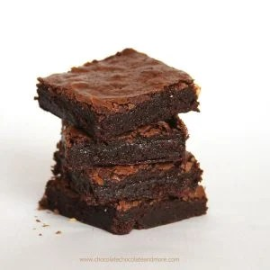One Bowl Brownies, made from scratch, deep rich chocolate flavor in a fudgy brownie.
