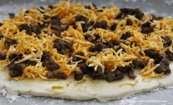 Cheesy Sausage Biscuit Pinwheels