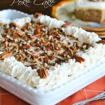 Carrot Cake Poke Cake In Baking Dish