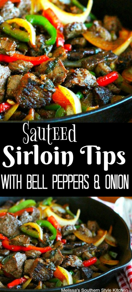 Sauteed Sirloin Tips With Bell Peppers And Onion