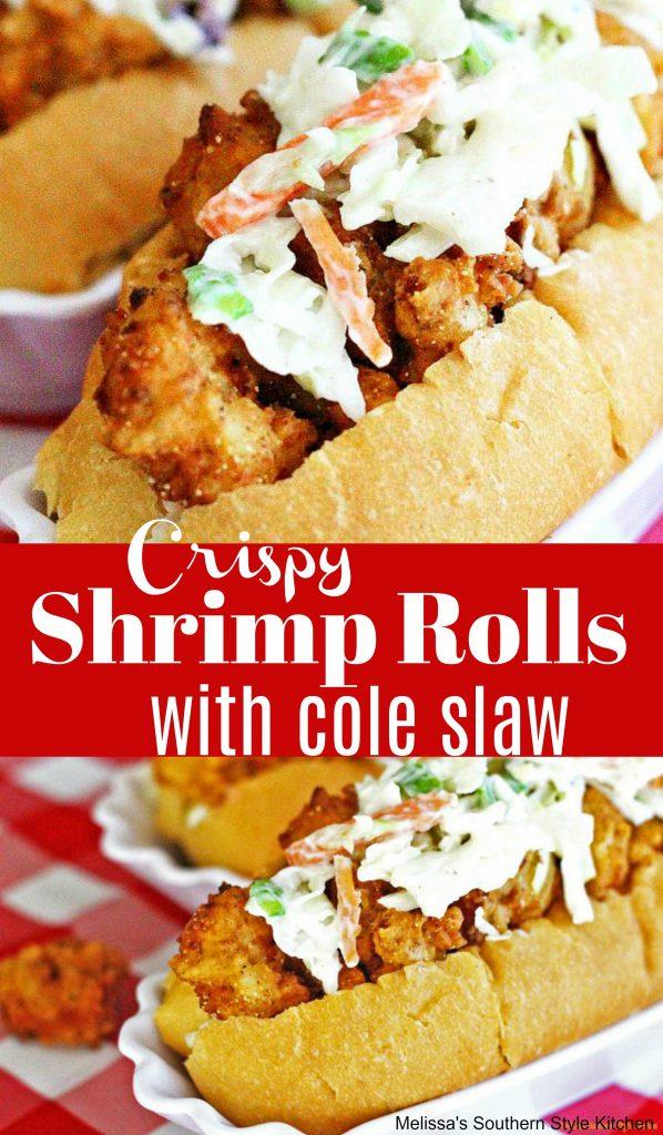 Crispy Shrimp Rolls With Cole Slaw