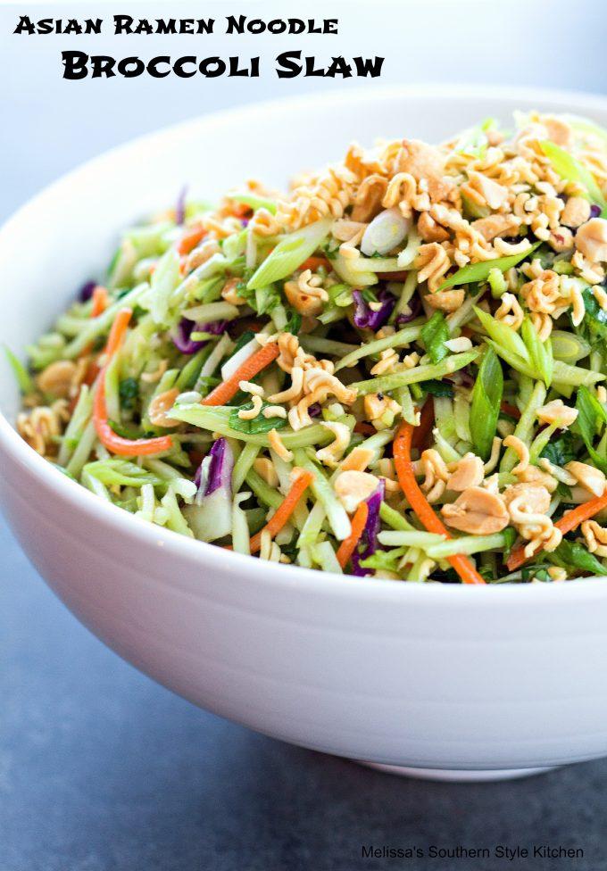 Asian Ramen Noodle Broccoli Slaw