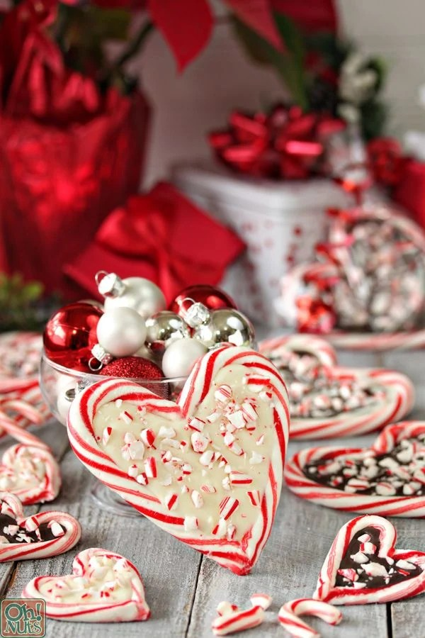 Peppermint Bark Candy Cane Hearts