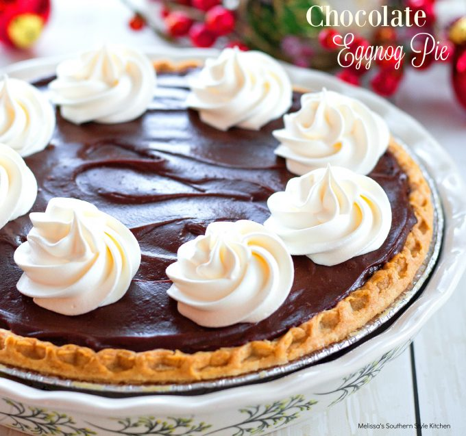 Chocolate Eggnog Pie