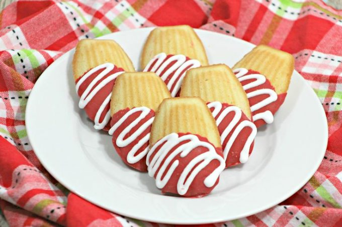 Chocolate Covered Madeleine Cookies
