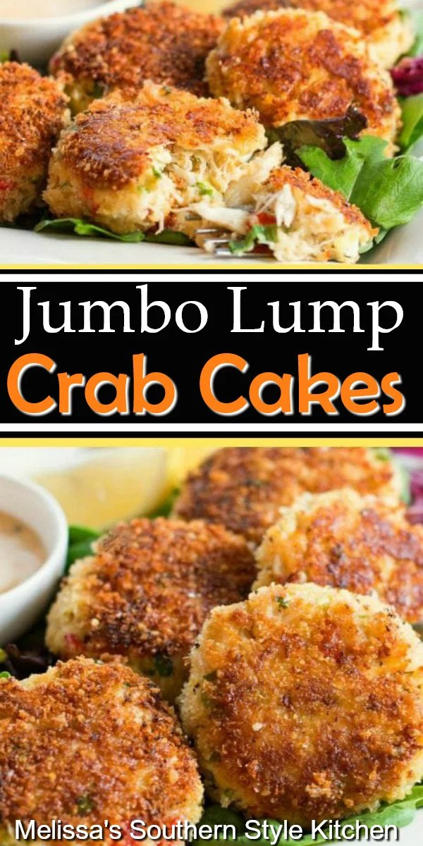 Save money and enjoy these spectacular Jumbo Lump Crab Cakes at home #crabcakes #crab #jumbolumpcrabmeat #crabrecipes #dinnerideas #seafood #seafoodrecipes #southernfood #southernrecipes