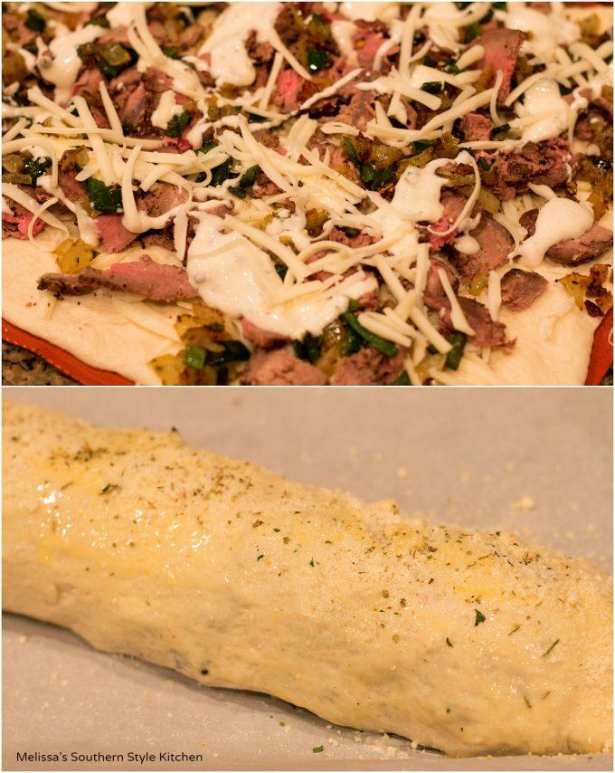 Mozzerella Cheesesteak Stromboli