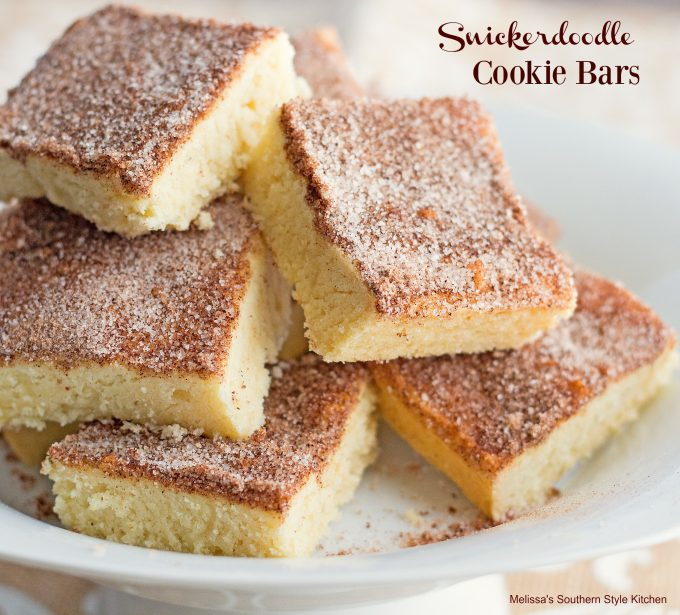 baked snickerdoodle cookie bars