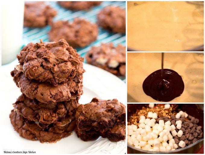 Rocky Road Brownie Cookies