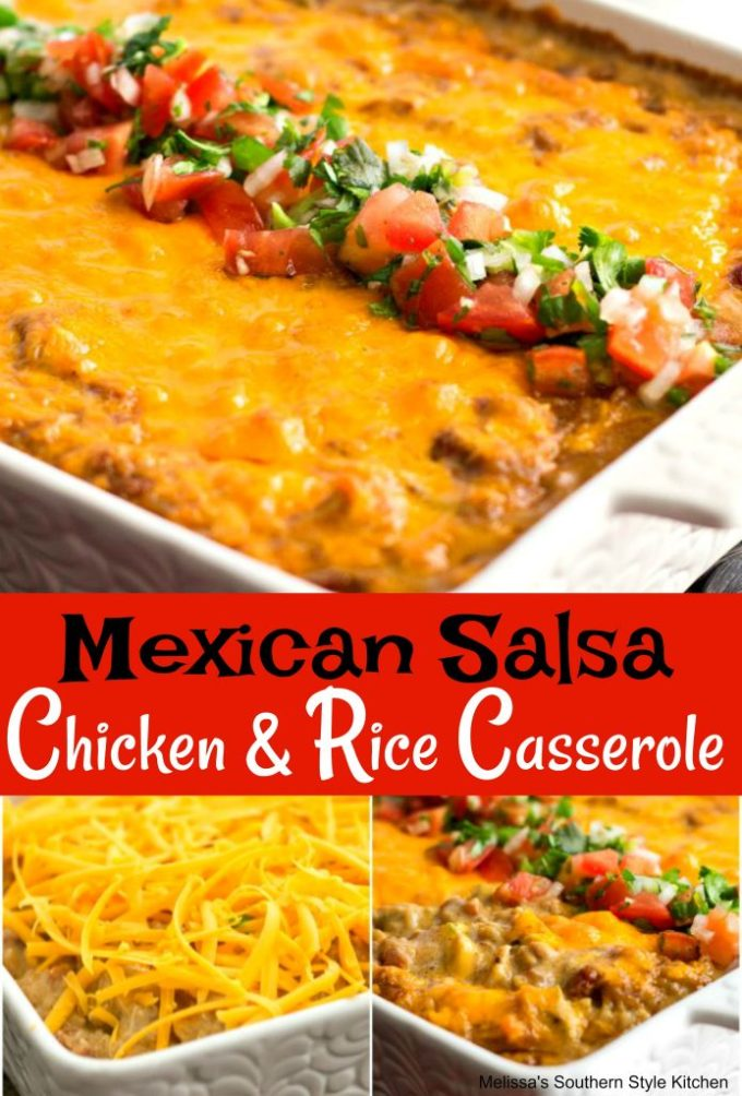 Mexican Salsa Chicken and Rice Casserole